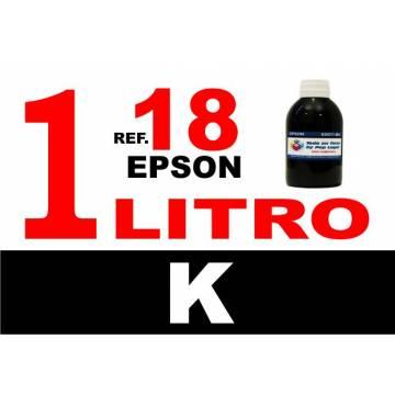 Para cartuchos Epson 18 18 xl botella 1 l tinta compatible negra