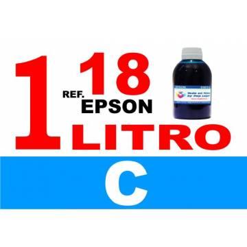 Para cartuchos Epson 18 18 xl botella 1 l tinta compatible cian