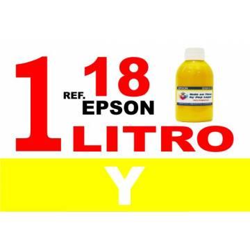 Para cartuchos Epson 18 18 xl botella 1 l tinta compatible amarilla