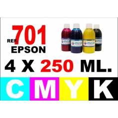 701 701 xxl pack 4 botellas 250 ml. cmyk