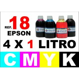 Epson 18, 18 XL pack 4 botellas 1 L. CMYK