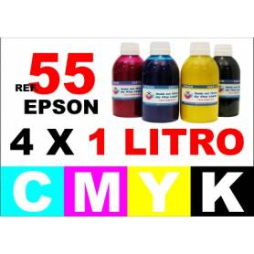 Epson 55, 55 XL pack 4 botellas 1 L. CMYK