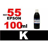 Epson 55, 55 XL botella 100 ml. tinta negra