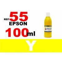 Epson 55, 55 XL botella 100 ml. tinta amarilla