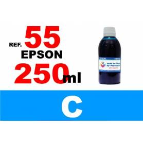 Epson 55, 55 XL botella 250 ml. tinta cian