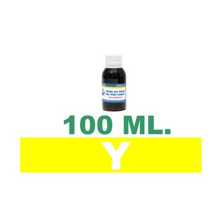 100 ml. tinta amarilla colorante para cartuchos HP