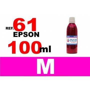61, 61 XL botella 100 ml. tinta magenta