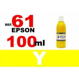 Epson 61, 61 XL botella 100 ml. tinta amarilla