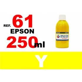 Epson 61, 61 XL botella 250 ml. tinta amarilla