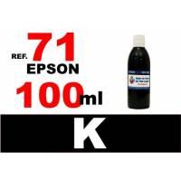 Epson 71, botella 100 ml. tinta negra