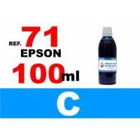 Epson 71, botella 100 ml. tinta cian