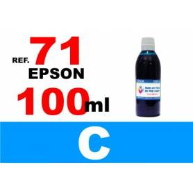 Epson 71, botella 100 ml. tinta cian