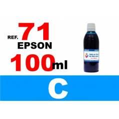 71 botella 100 ml. tinta cian