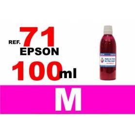 Epson 71, botella 100 ml. tinta magenta