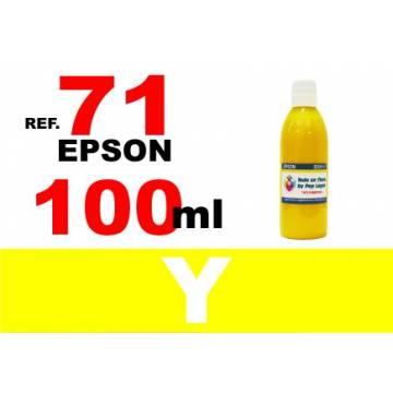 71, botella 100 ml. tinta amarilla