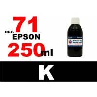 Epson 71, botella 250 ml. tinta negra