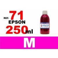 Epson 71, botella 250 ml. tinta magenta