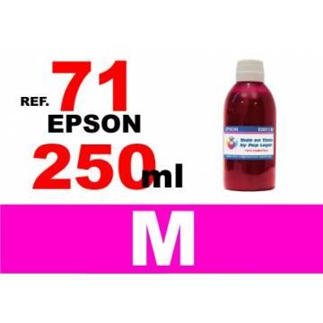 71, botella 250 ml. tinta magenta