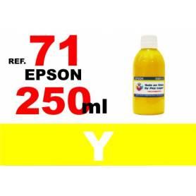 Epson 71, botella 250 ml. tinta amarilla