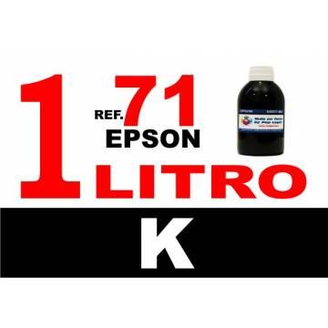 71, botella 1 L tinta negra
