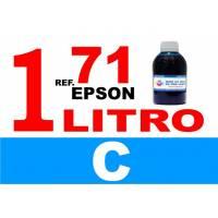 Epson 71, botella 1 L tinta cian