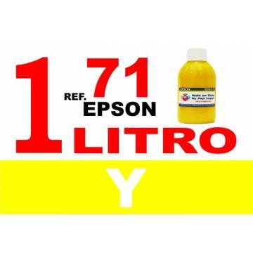 71 botella 1 l tinta amarilla