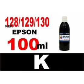 Epson 128, 129, 130 botella 100 ml. tinta negra