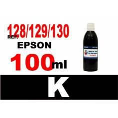 Para cartuchos Epson 128 129 130 botella 100 ml. tinta compatible negra