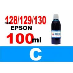 Para cartuchos Epson 128 129 130 botella 100 ml. tinta compatible cian