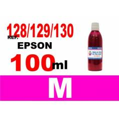 Para cartuchos Epson 128 129 130 botella 100 ml. tinta compatible magenta