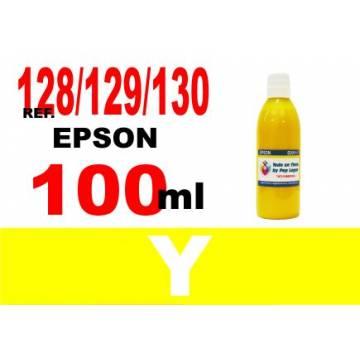 128, 129, 130 botella 100 ml. tinta amarilla