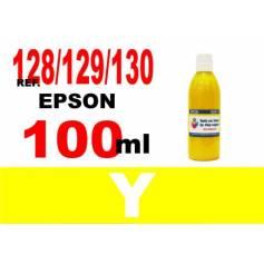 Para cartuchos Epson 128 129 130 botella 100 ml. tinta compatible amarilla