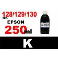 Epson 128, 129, 130 botella 250 ml. tinta negra