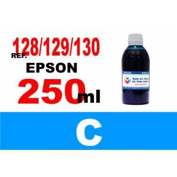 Para cartuchos Epson 128 129 130 botella 250 ml. tinta compatible cian