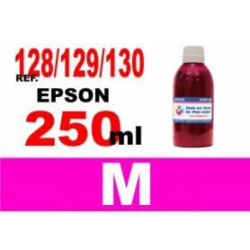 Epson 128, 129, 130 botella 250 ml. tinta magenta