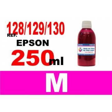 Para cartuchos Epson 128 129 130 botella 250 ml. tinta compatible magenta
