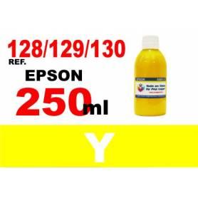 Epson 128, 129, 130 botella 250 ml. tinta amarilla