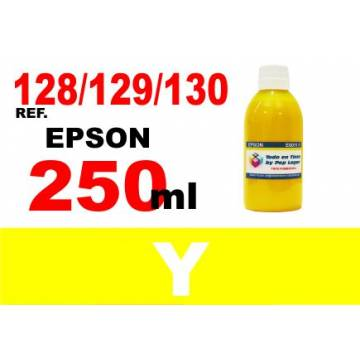 128, 129, 130 botella 250 ml. tinta amarilla