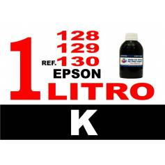 Para cartuchos Epson 128 129 130 botella 1 l tinta compatible negra