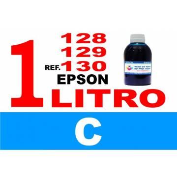 Para cartuchos Epson 128 129 130 botella 1 l tinta compatible cian