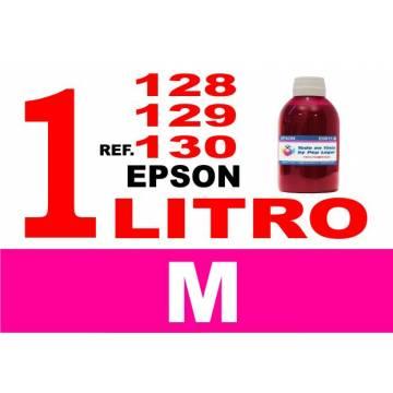 Para cartuchos Epson 128 129 130 botella 1 l tinta compatible magenta