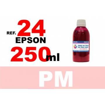 Para cartuchos Epson 24 xl botella 250 ml. tinta compatible cian photo