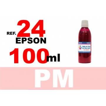 Para cartuchos Epson 24 xl botella 100 ml. tinta compatible magenta photo