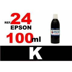 Para cartuchos Epson 24 xl botella 100 ml. tinta compatible negra