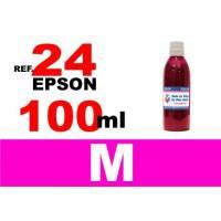 Epson 24 XL botella 100 ml. tinta magenta