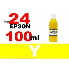 Para cartuchos Epson 24 xl botella 100 ml. tinta compatible amarilla