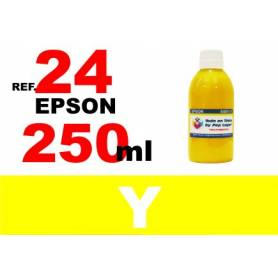 Epson 24 XL botella 250 ml. tinta amarilla