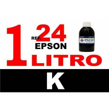Para cartuchos Epson 24 xl botella 1 l tinta compatible negra