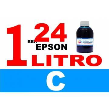 Para cartuchos Epson 24 xl botella 1 l tinta compatible cian