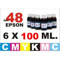 Epson 48 pack 6 botellas 100 ml. CMYKpCpM